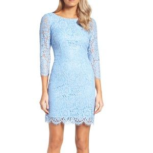 Adrianna Papell lace dress in blue
